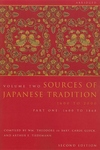 Sources of Japanese Tradition 1600 to 1868