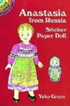 Anastasia from Russia Sticker Paper Doll