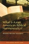 What Is Asian American Biblical Hermeneutics?:Reading the New Testament