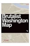Brutalist Washington Map
