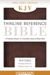 Holy Bible : King James Version Chestnut Brown Flexisoft Leather Thinline Reference Bible