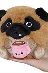 Mini Pug With Mug Plush